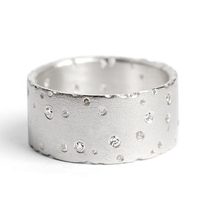 Silver Ring With Diamonds - rings