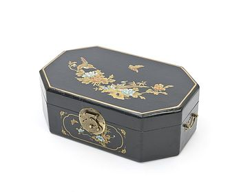 Black Octagonal Jewellery Box