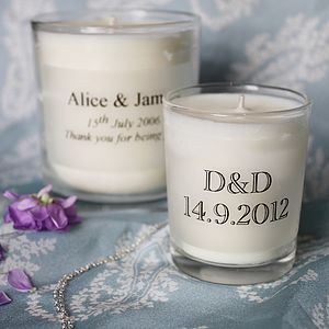 Personalised Essential Oil Candle - wedding favours