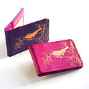 Printed Leather Early Bird Card Holder