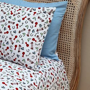Horse Print Single And Cot Duvet Set - baby's room