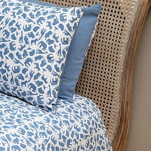 Safari Blue Single And Cot Duvet Cover Set - bedding & accessories