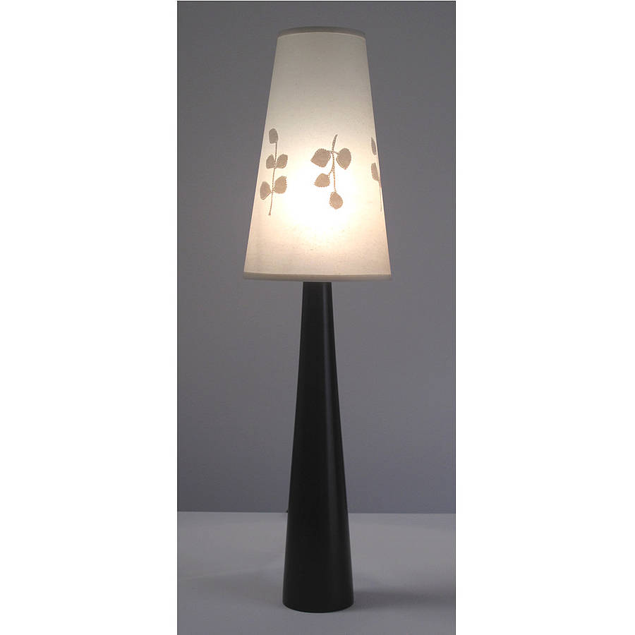 Classic Beech Tall Cone Lamp Base By Helen Rawlinson