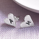 Personalised Love Letter Stud Earrings