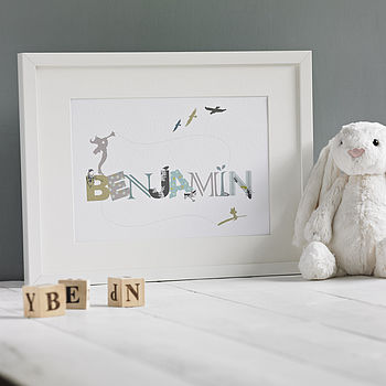 Personalised Boys 'Fairyland' Print