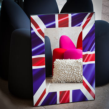 Union Jack Frame Mirror