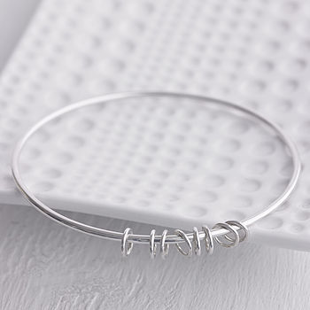 Handmade Silver Eight Rings Bangle