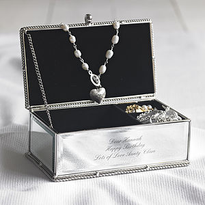 Personalised Jewellery Box - jewellery storage & trinket boxes