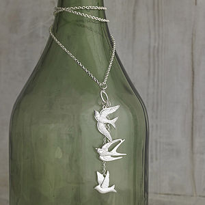 Swift Bird Pendant Necklace - necklaces & pendants