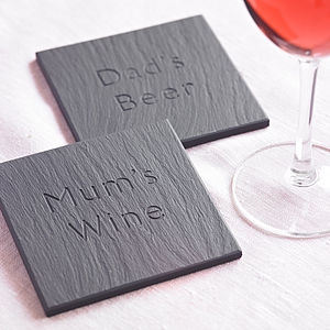 Personalised Slate Coaster - placemats & coasters