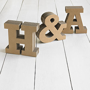 Chunky Cardboard Letters - children's room accessories