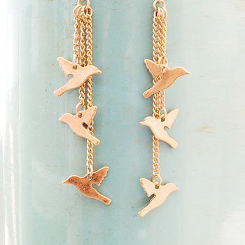 Lucy Bird Earrings In Gold Or Silver