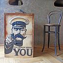 'Your Country Needs You' Metal Cabinet