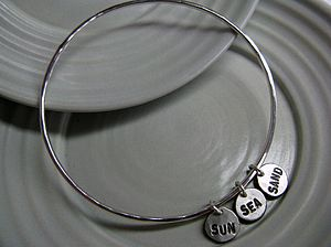 Rex's Pieces Of Eight Silver Bangle