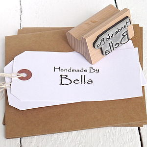 Personalised 'Handmade By' Rubber Stamp - best sale picks