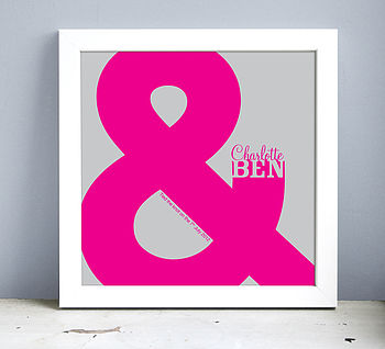 Framed Personalised Ampersand Print