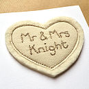 'Mr And Mrs' Personalised Wedding Card
