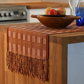 Ulil Table Runner - Brown / Gold / Beige