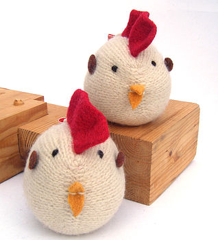 Handmade Knitted Easter Chicken