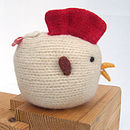 hand made knitted chicken side