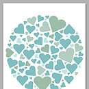 Personalised Wedding Hearts Signature Print