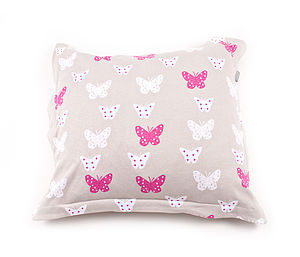 Child's Printed Butterfly Cushion Cover