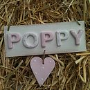 Personalised Polka Dot Heart Plaque