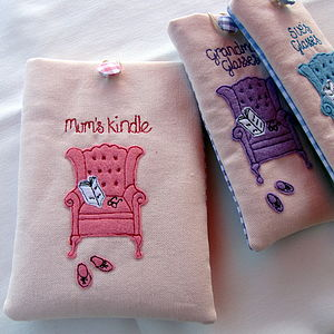 Personalised Girl's Chair Cover For Kindle - leisure