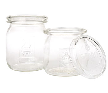 Vintage Pressed Glass Storage Jar