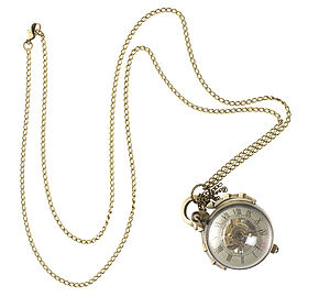Vintage Style Ball Watch Necklace - watches