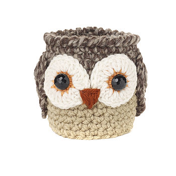 Hand Crochet Oswald Owl Cup Cosy