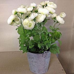 Artificial Ranuncula Pot - flowers & plants