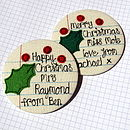 Personalised Xmas School Report Mirror
