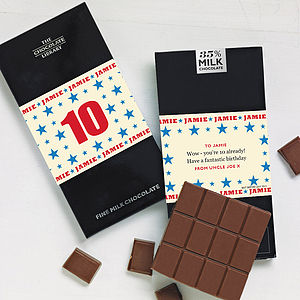 Child's Birthday Age Chocolate Bar - birthday gifts for children