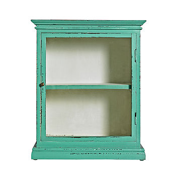 Vintage inspired wall cabinet Turquoise 27087