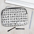 Alphabet Print Laptop Or Ipad Bag