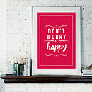 'Don't Worry Be Happy' Bob Marley Inspired Retro Print