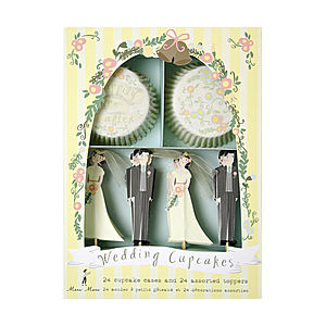 Bride And Groom Wedding Cupcake Kit - kitchen