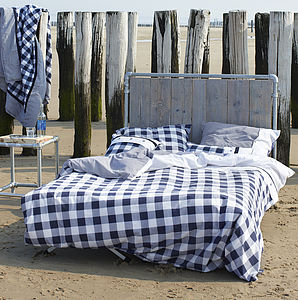Blue Check Duvet Set - baby & child sale