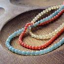 Silver Loop And Bead Necklace
