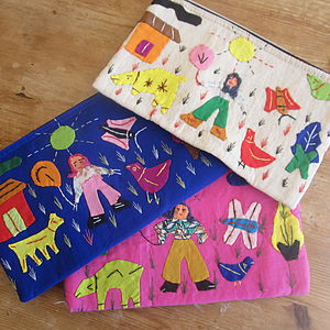 Colourful Applique Pencilcase