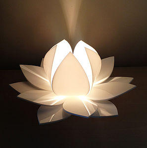Lotus Flower Table Lamp Bedside Lamp - living room