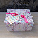 Flowers And Windmills Wrapping Paper