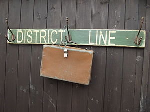 'District Line' Hook Board - laundry room