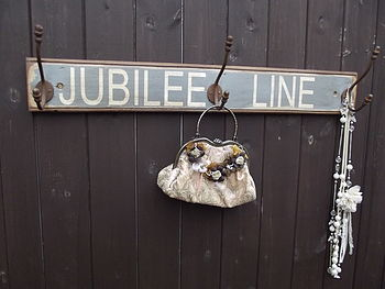 London 'Jubilee Line' Wooden Hook Board