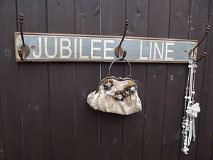 London 'Jubilee Line' Wooden Hook Board - furnishings & fittings
