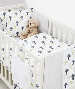 Printed Toadstool Duvet Set - baby's room