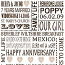 Personalised Anniversary Print - Brown