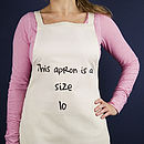 'This Apron Is A Size'… Apron