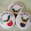 Personalised Christmas Pudding Mirror